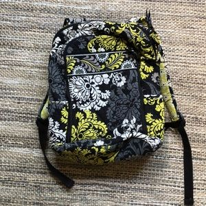Vera Bradley Backpack in Baroque Pattern.